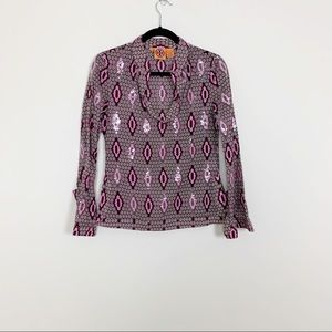 Tory Burch Pink Sequin Tunic Sz 2